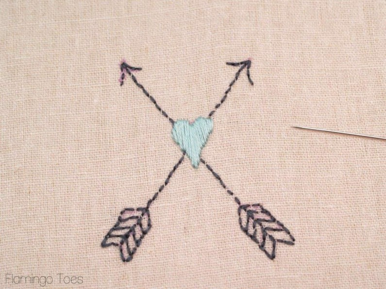 embroidering arrows
