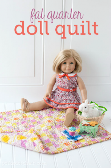 Fat Quarter Doll Quilt Tutorial