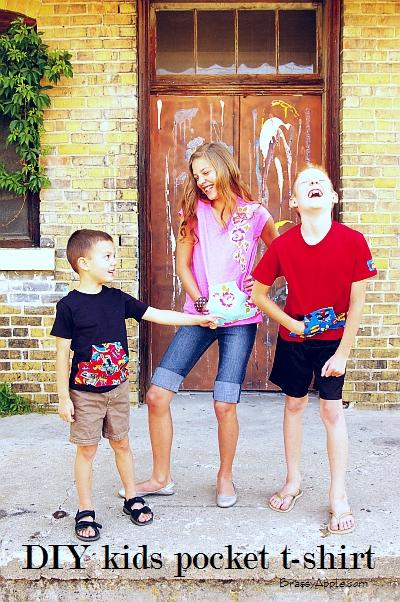 DIY Kids Pocket T-shirt by Brassy Apple
