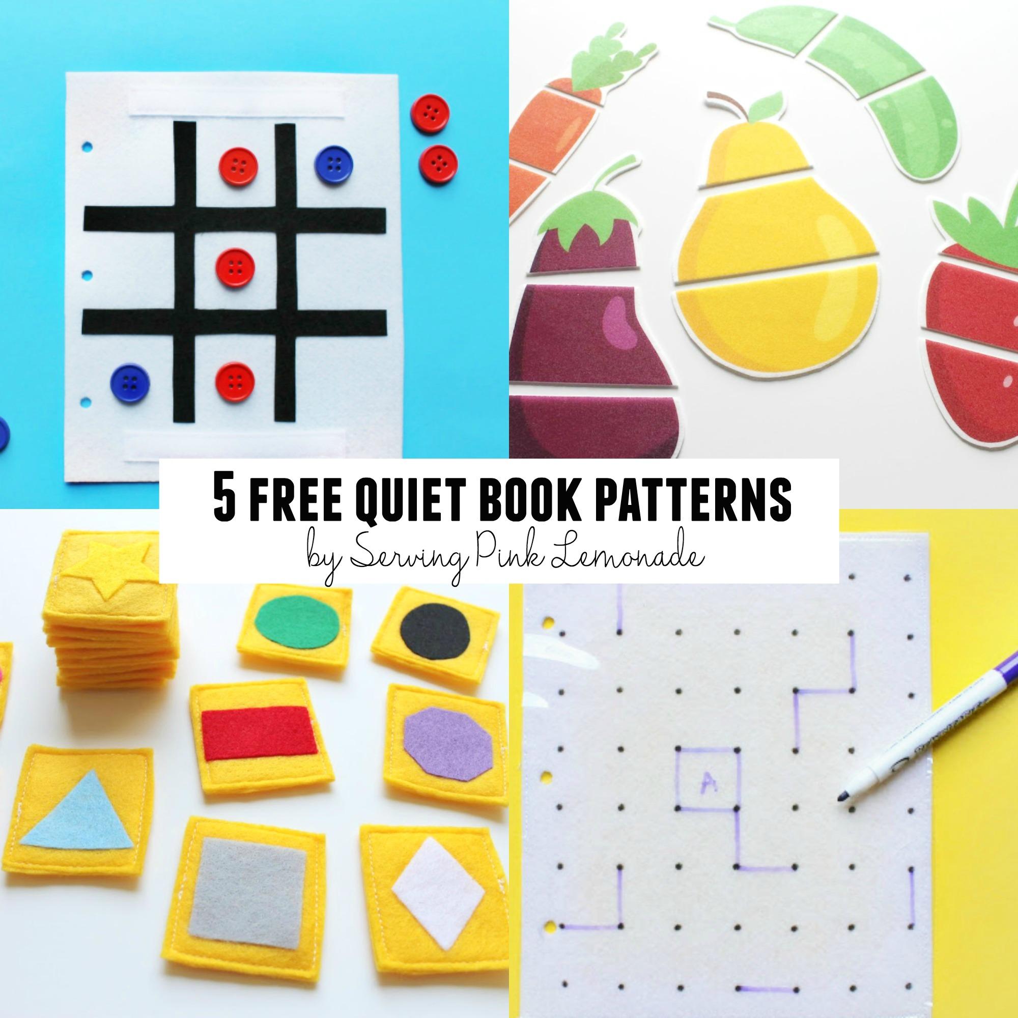 5 Free Quiet Book Patterns