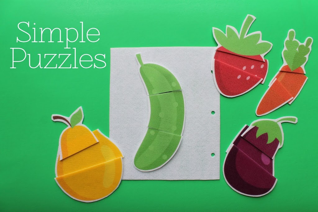 Simple Quiet Book Series - Simple Puzzles by Serving Pink Lemonade