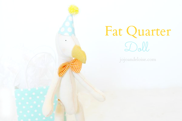 How to Make a Fat Quarter Doll by JoJo and Eloise