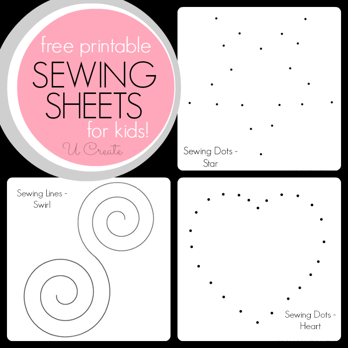Sewing Sheets for Kids U Create – Sewing Worksheets