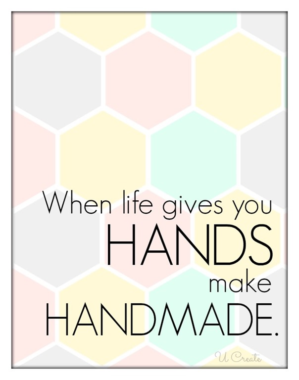 make handmade - free printable by U Create
