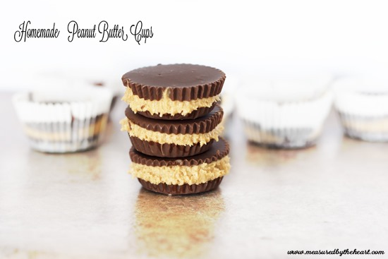 Homemade Peanut Butter Cups by Measured by the Heart