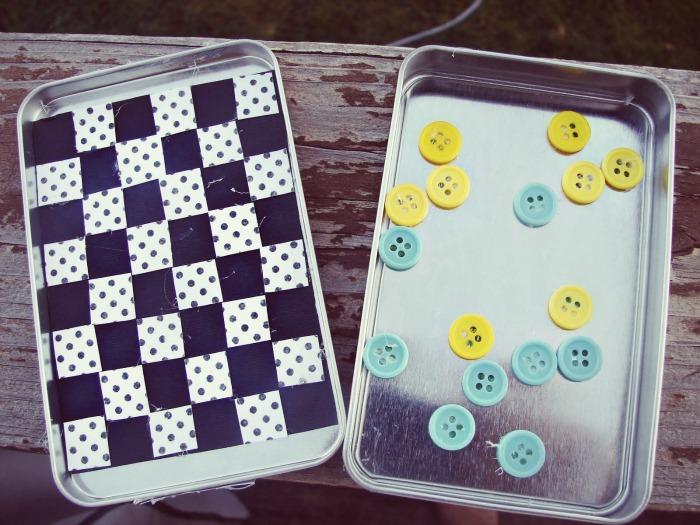 Mini Checkers Game in an Altoid Tin by A Girl and A Glue Gun