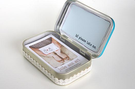 Altoid Tin Business Card Holder by Julie Ann Art