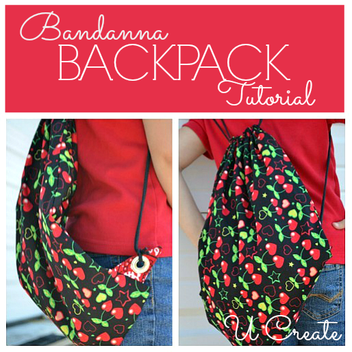 Bandanna Backpack Tutorial by U Create