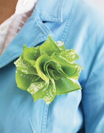 Bandanna Rosette Tutorial at Country Living