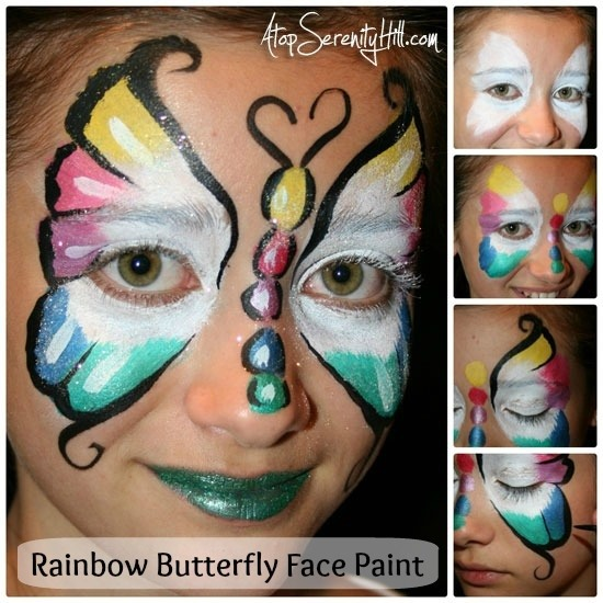 butterfly facepainting tutorial