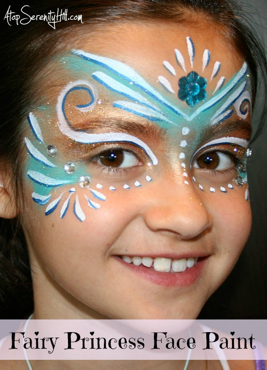 Fairy Princess Face Paint Tutorial