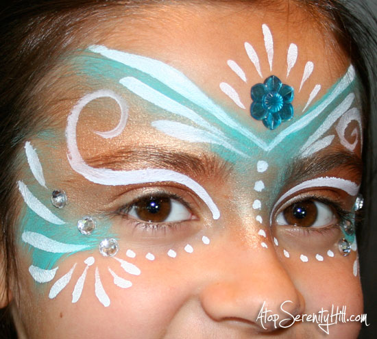 DIY Fairy Princess Face Paint by Atop Serenity Hill