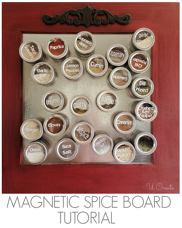 DIY Magnetic Spice Board by U Create