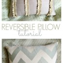 Reversible Throw Pillow Tutorial by u-createcrafts.com
