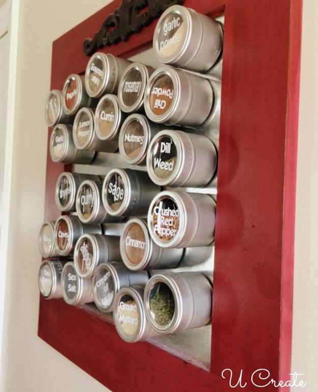 Home Decor Spice Board Tutorial