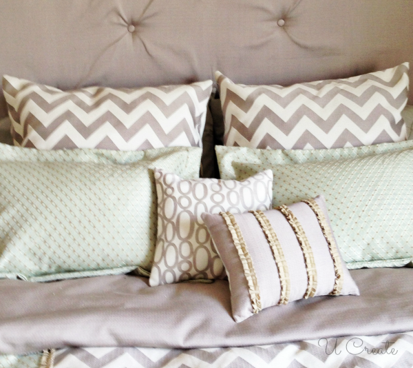 Ucreate Bedroom Makeover - lots of pillows!