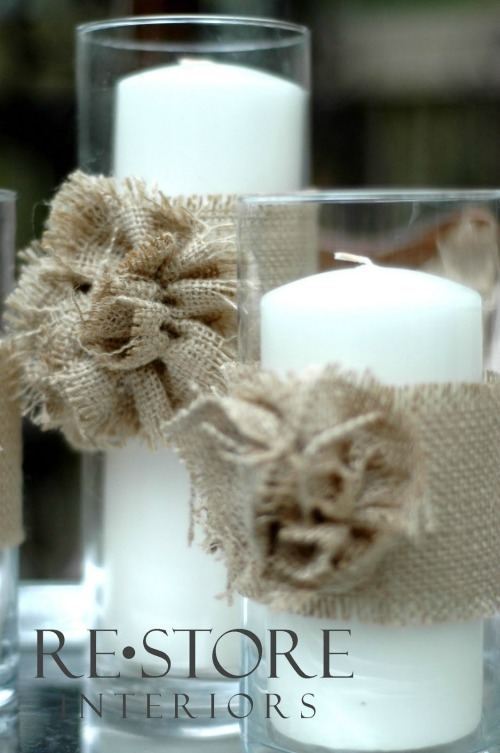 Burlap Rosette Flower Tutorial by Restore Interiors