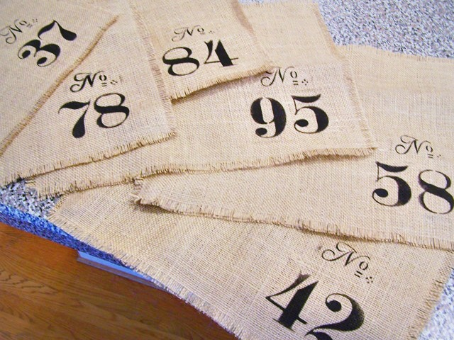 DIY Burlap Placemats by Pickles and Cheese