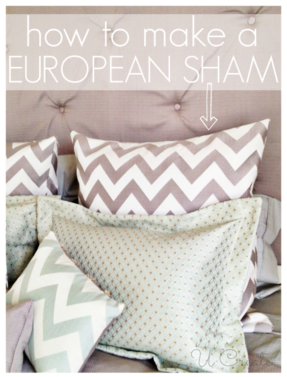 How to make a European Pillow Sham in a few easy steps!! www.u-createcrafts.com