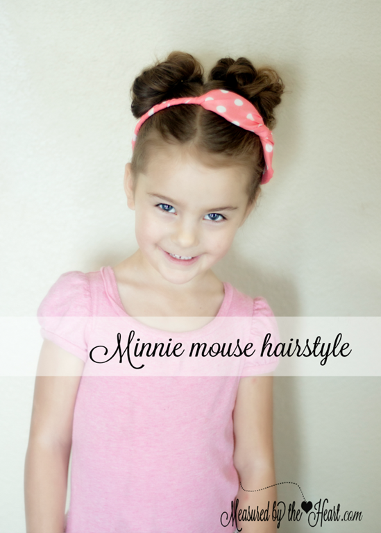 Minnie Mouse Hairstyle Tutorial by Measured by the Heart