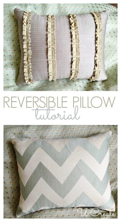 reversible throw pillow tutorial