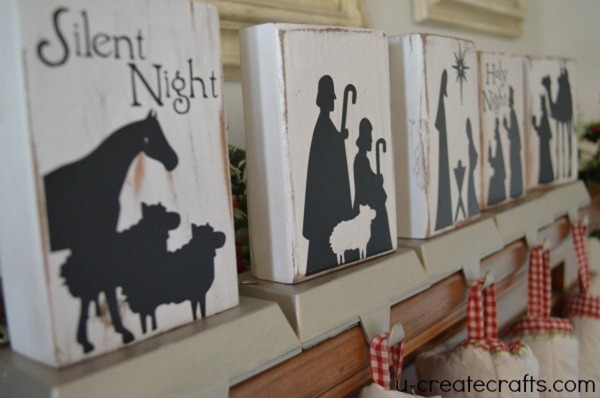 DIY Nativity Stocking Holders by UCreate