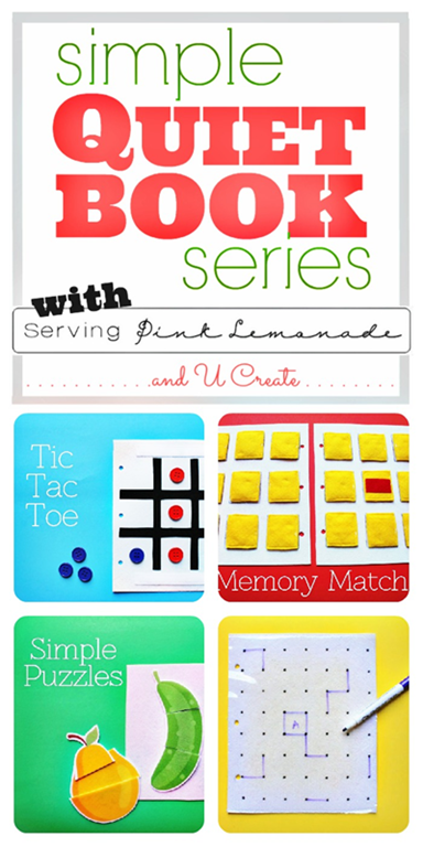 How to make simple quiet books by serving pink lemonade