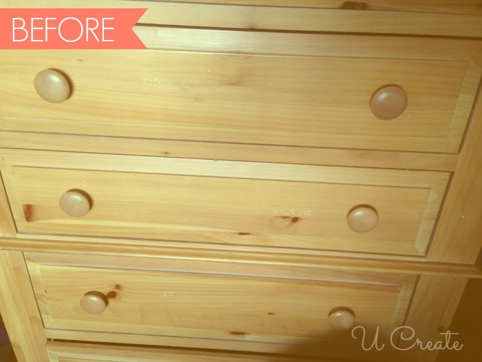 before dresser. How To Use Chalk Paint   Dresser Makeover   U Create