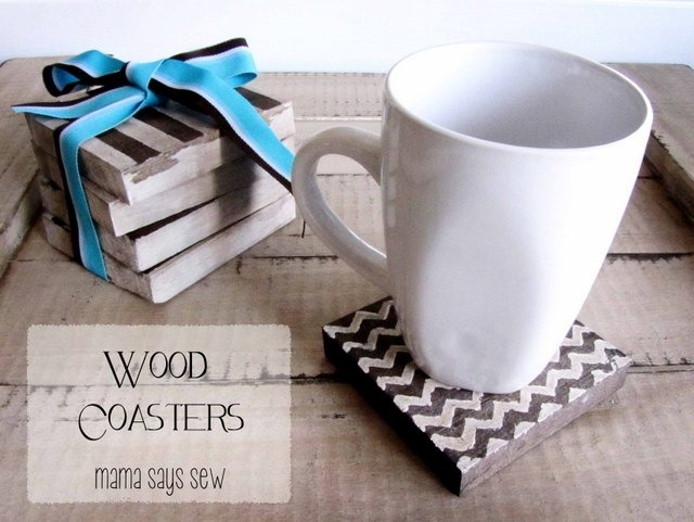 DIY Wooden Coasters by Mama Says Sew