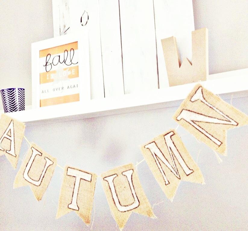 Burlap Banner Tutorial by Lauren Rae & Co.