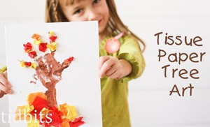 Tissue Paper Tree Art for Kids by Tidbits