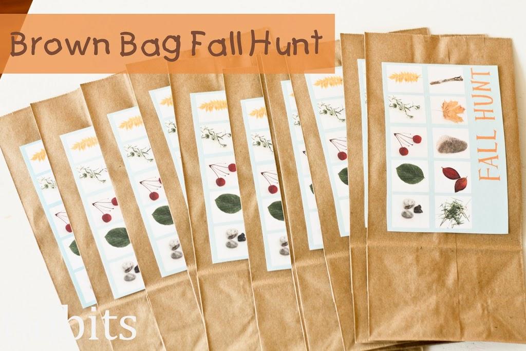 Brown Bag Fall Scavenger Hunt by Tidbits