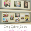 Floating Frames Tutorial using cabinet doors