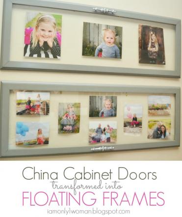 Floating Frames Tutorial using cabinet doors