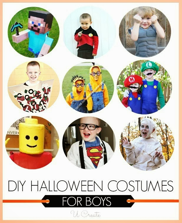 Halloween Costume Tutorials for Boys -movie characters, heros, games, and more!