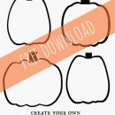 Free Printable Jack O Lantern Faces - one sheet of paper entertains the kids for hours!