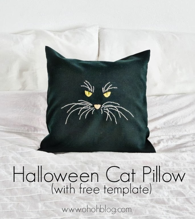 Diy Halloween Cat Pillow With Free Template U Create
