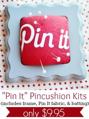 Pincushion Kit for $9.95 #kits #sewing