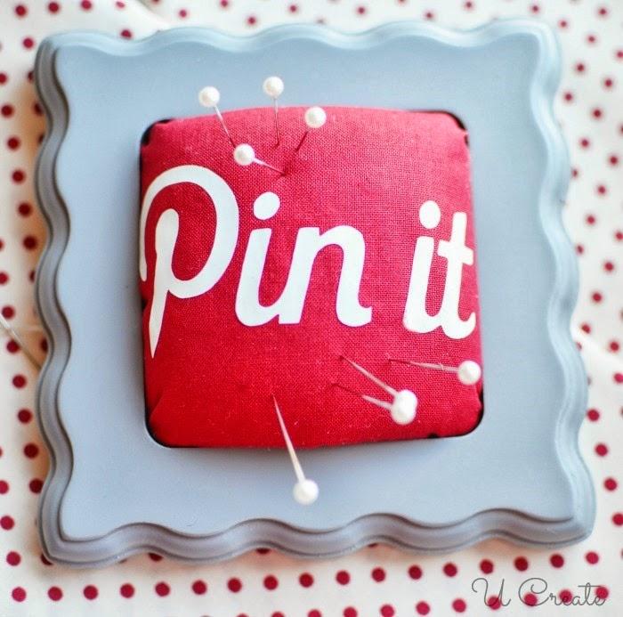"DIY ""Pin It"" Pincushion by UCreate"