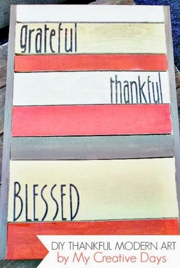 DIY Pallet Thanksgiving Art by My Creative Days