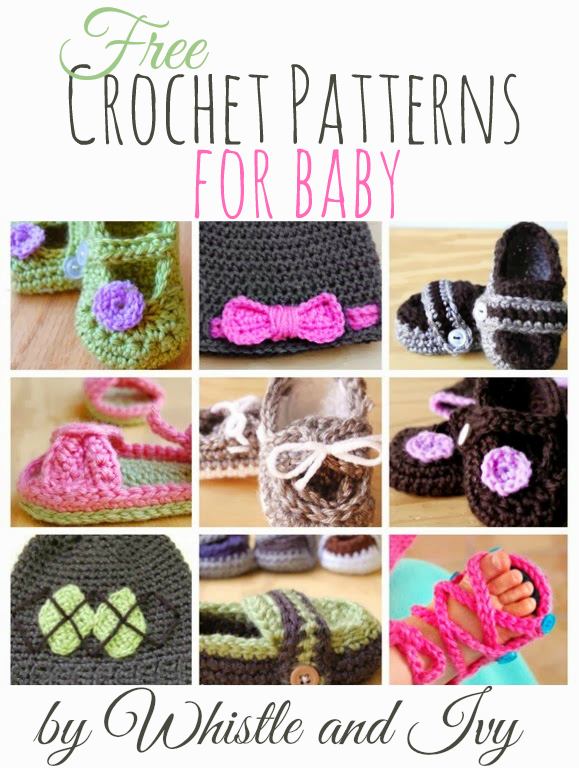 Many FREE crochet patterns for baby by Whistley and Ivy - great for baby gifts!
