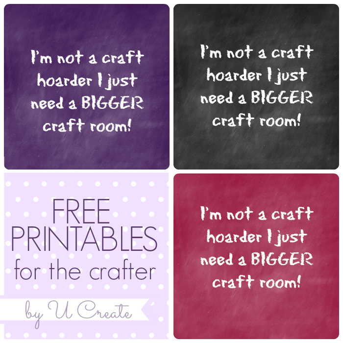 Free Printable for the Crafter - 3 colors available! u-createcrafts.com