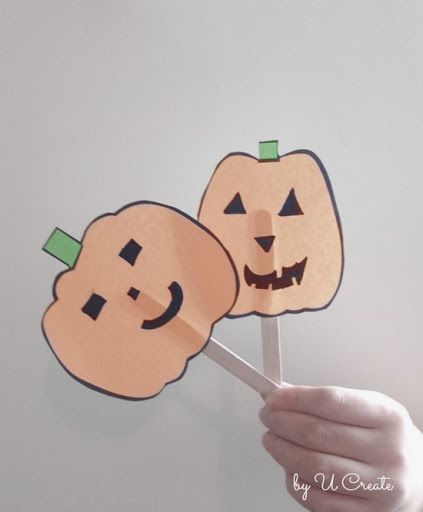 Free Printable Pumpkin Faces - one sheet of paper = hours of FUN!