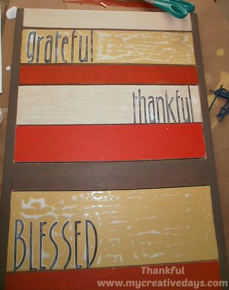 Thankful Board by My Creative Days