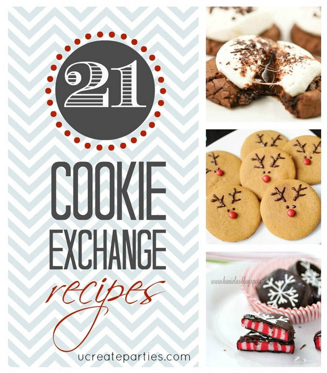 21 Cookie Exhange Recipes - great crowd-pleasing recipes!