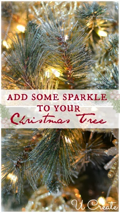 Add sparkle to the Christmas tree at U-createcrafts.com