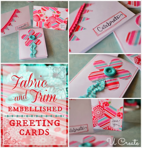 DIY Fabric & Trim Cards