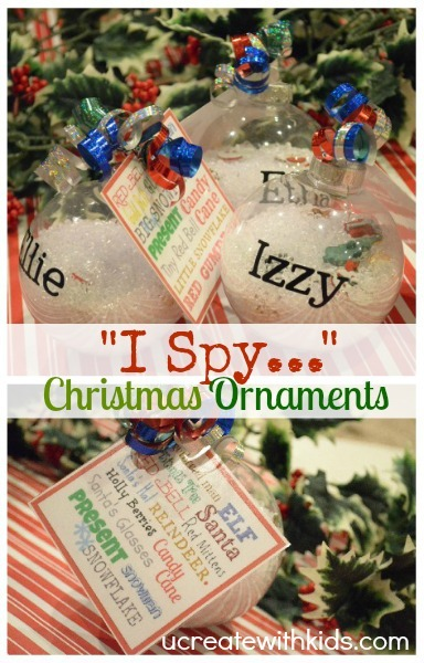 DIY Children's I-Spy Ornament u-createcrafts.com