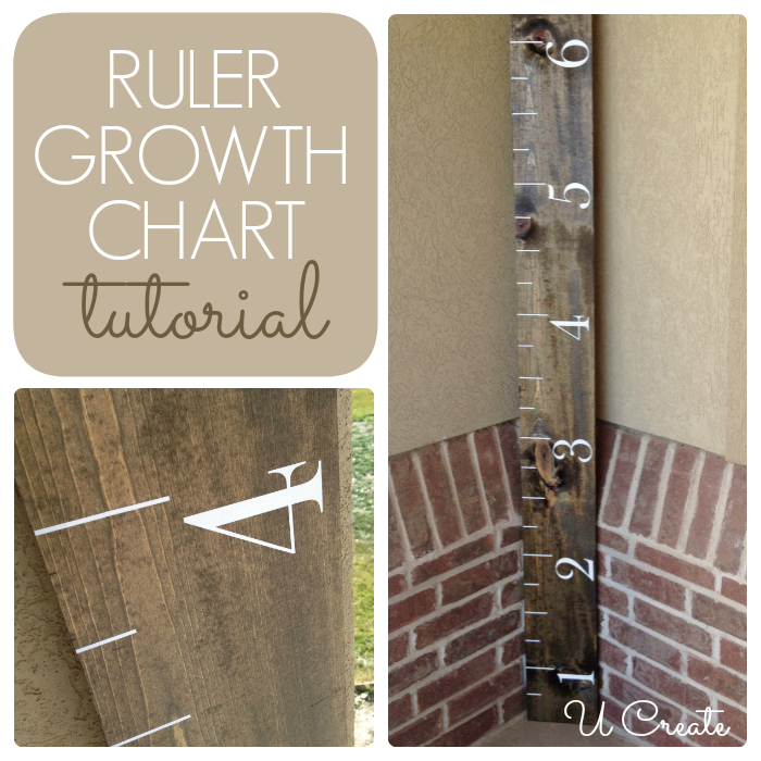 DIY Growth Chart Vinyl Kit for only $8.95