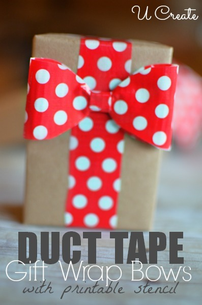 Diy Gift Wrap Bows With Duct Tape U Create